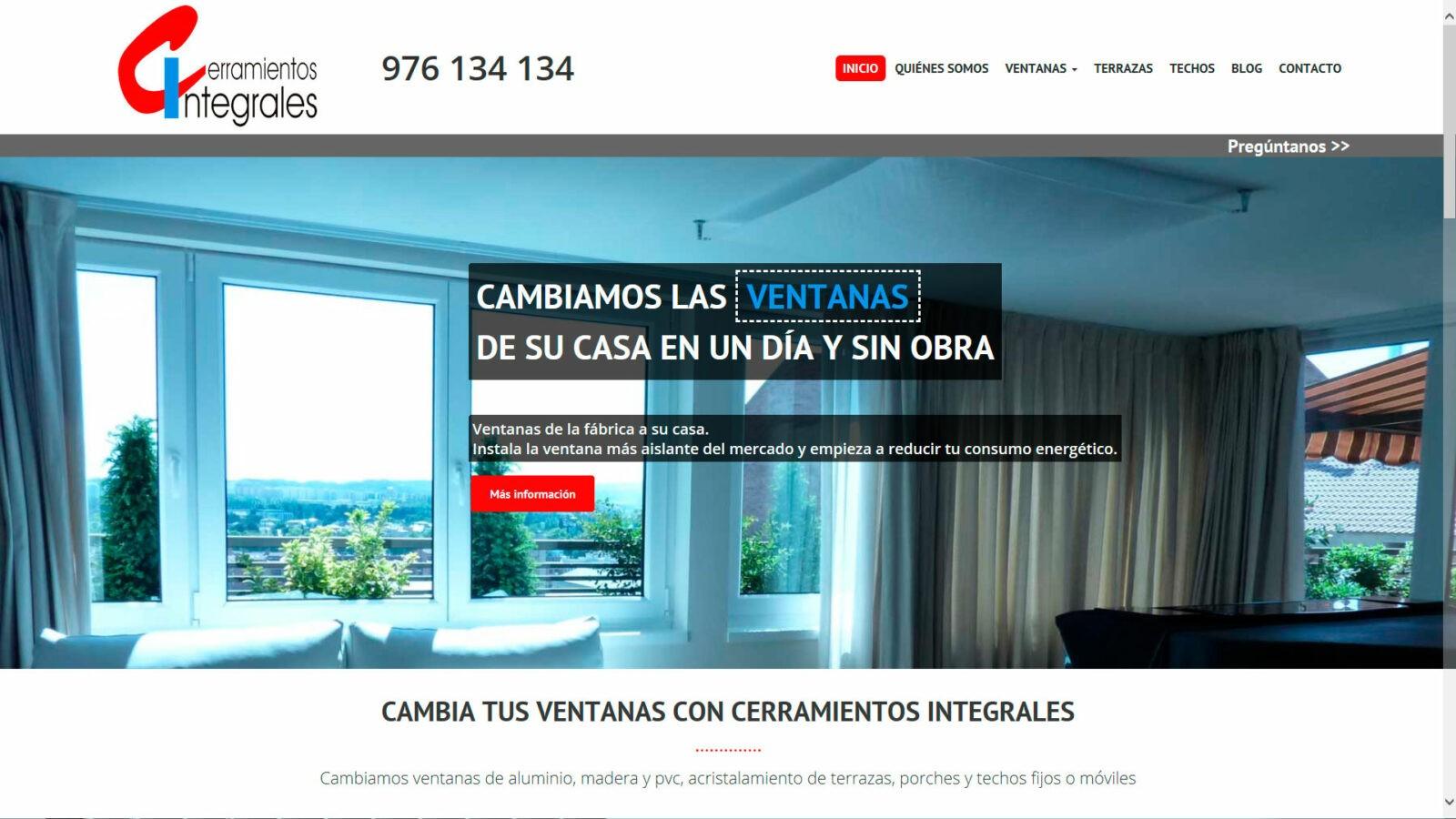 Nueva página web de Cerramientos Integrales